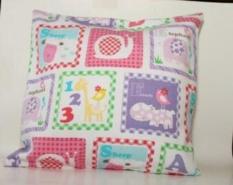 12x12 Baby Nursery Block Decorative Pillow