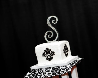 Monogram Crystal Cake Topper - FREE SHIPPING