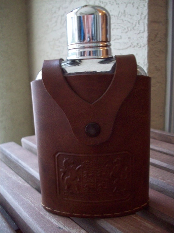 Leather Flask by Iruinware