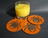 Halloween Spider Coaster Set