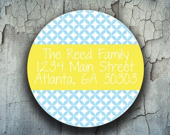 80 Round Address Labels - Personalized Return Address Stickers - Custom Shipping Labels