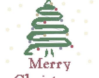 Modern Christmas Tree/Cross Stitch Pattern/Christmas Tree Cross Stitch/Modern Christmas Cross Stitch/Modern Cross Stitch/Cross Stitch File