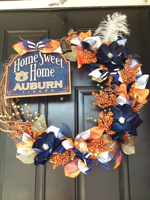 "Auburn Tigers....24"" Grapevine Wreath"