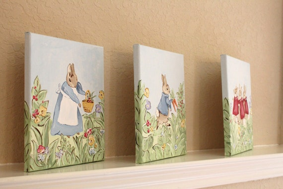 Peter Rabbit, 8x10 (set of 3), MADE TO ORDER