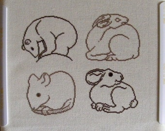 Woodland Animals Cross-Stitch Pattern