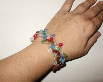 Hand Woven Swarovski Bracelet with Magnetic Clasp