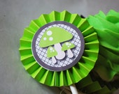 Halloween Eerie Haunted Forest Mushroom Cupcake Toppers In Your Choice of Color Qty 12 By Your Little Cupcake
