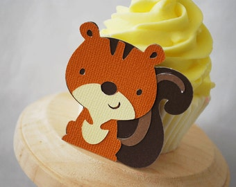 Woodland Squirrel Hang Tags In Your Choice of Color Qty 6 By Your Little Cupcake