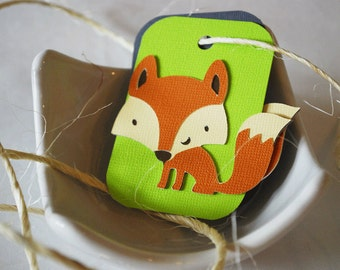 Woodland Fox Hang Tags In Your Choice of Color Qty 6 By Your Little Cupcake