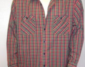 Vintage Mens Kingsport long sleeve Plaid Shirt Sz X-Large - XL