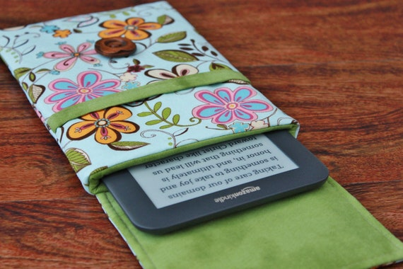 Kindle Fire Cover, Kindle Keyboard Cover, Kindle Fire Case, Kindle Keyboard Case, Kindle 3 Cover, Kindle Cover - Happy Flowers