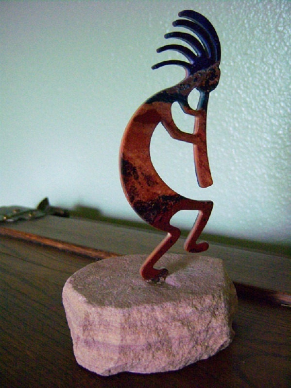 Kokopelli Laser Cut Art Sculpture Metal Rock