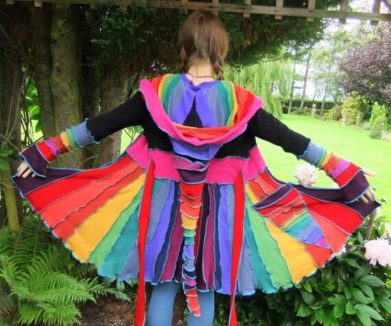 Rainbow Pixie festival Jacket - Small - READY to SHIP