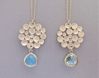 Bubble of Gold Pendant Necklace