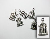 CLEARANCE Antique silver fairy castle charm