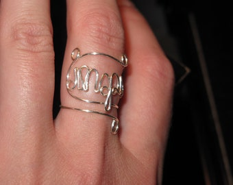 Wire Wrapped INSPIRE Adjustable Ring MADE to ORDER