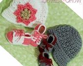 New Baby Crochet Pattern Includes Little Sport NEWSBOY HAT and Little Sport SADDLES digital
