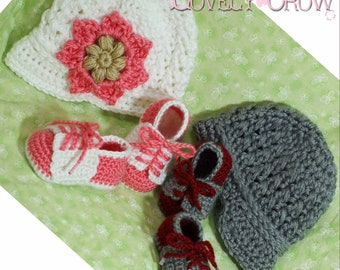New Baby Crochet Pattern Includes Little Sport NEWSBOY HAT and Little Sport SADDLES digital