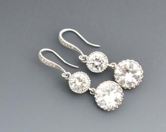 Wedding Jewelry - Crystal Earrings - Crystal Wedding Earrings