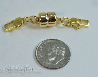 Necklace Shortener-Heavy Duty Large Gold Magnetic