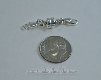 Necklace Shortener-Heavy Duty Small Silver Magnetic