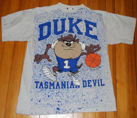 Vintage Duke University Blue Devils Tasmanian Devil T Shirt
