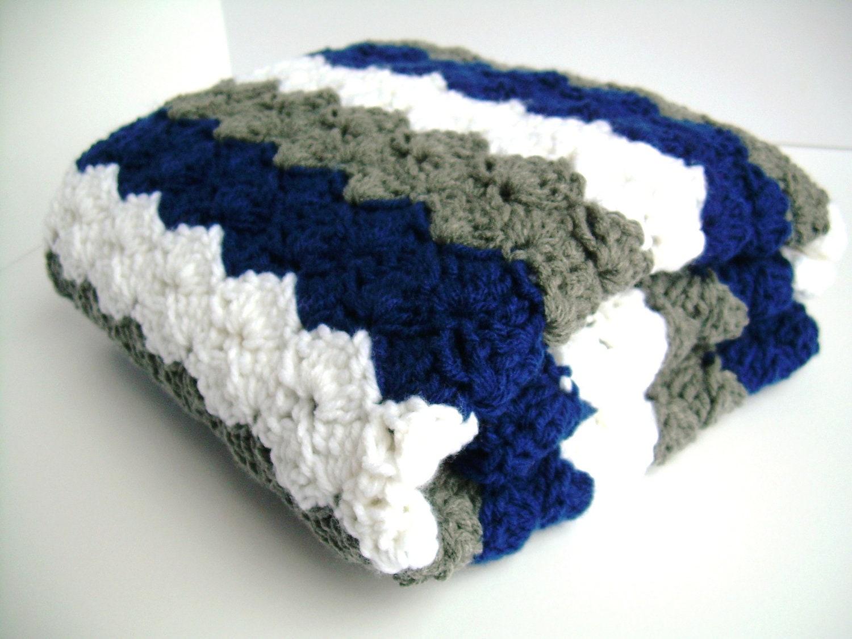Blue Crochet Baby Blanket New Crochet Baby Blanket Blue