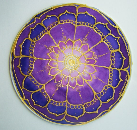 Flower Mandala Crown Chakra chakra art lotus art