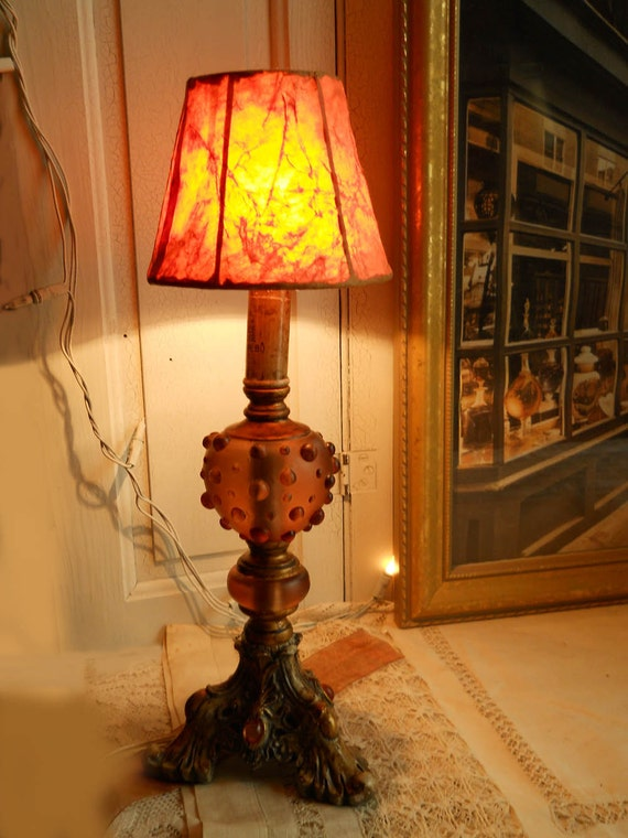 Vintage Table Lamp Plaster/Resin Decorative Base Newly Rewired Cottage Shabby Chic Paris Apt Farmhouse Prairie Cottage