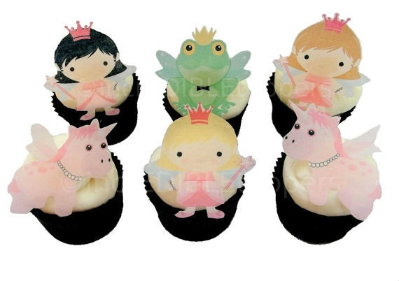 Edible Cake Decorations Fairies : Fairy Princess Cupcake Toppers for Girl s Birthday Cake ...
