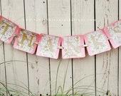 Custom Glitter Thanks Wedding Banner- Pink & Gold Sign