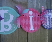 happy BIRTHDAY banner - girl birthday banner - birthday party decorations