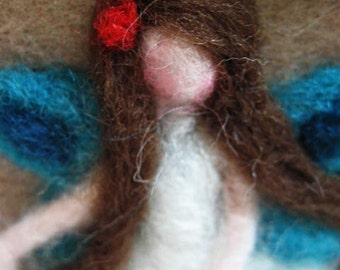 Fairy - Miniature Fairy - Needle Felted Fairy - Waldorf Fairy