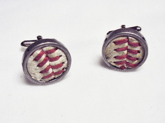 Used game ball MLB baseball SF Giants Manly man sports fanatic hand crafted cuff links