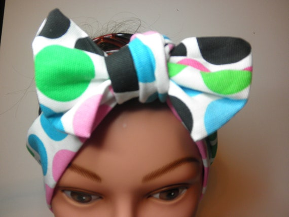 ReTRO  Dame BIGBOW Hair Wrap -TWO4FIVE - Rockabilly - Handmade  - Vintage 1940's Inspired