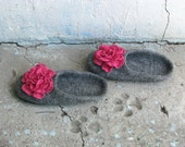 Women's felted slippers - Pink dream - slippers for women and girls. Made to order