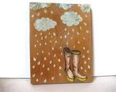 I Love My Rain Boots - Wall Art