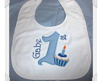 Personalized First Birthday Bib