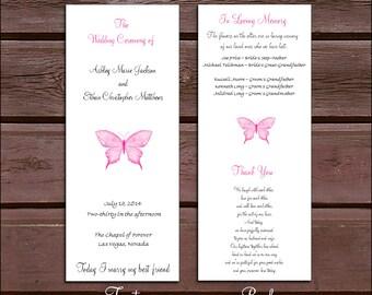 150 Butterfly Wedding Ceremony Programs