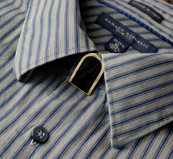 Vintage mens jewelry shirt button cover mid by for Mens dress shirt button covers