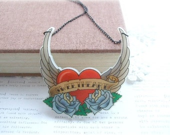 ON SALE  Sweetheart Tattoo Necklace