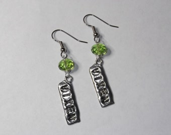 Vixen Earrings in Peridot Green