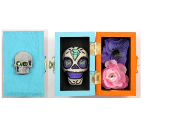 Day of the Dead small Skull Box
