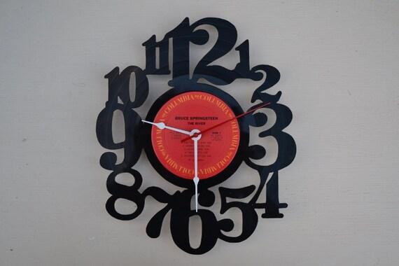 Vinyl Record Wall Clock (artist is The Bruce Springsteen)