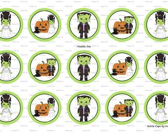 "15 The Frankensteins Digital Download for 1"" Bottle Caps (4x6)"