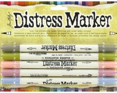 Tim Holtz - ESTATE SALE - Distress Marker Pens Set of 5
