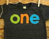 Lime green orange and blue Birthday Tee Organic Blend Colorful Birthday Shirt first birthday etc customize