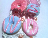 Donuts and Ice Cream iPhone 4 4S Whipped Cream Pink Decoden Case
