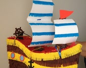 Pirate Ship Pinata.  Custom Pinata.