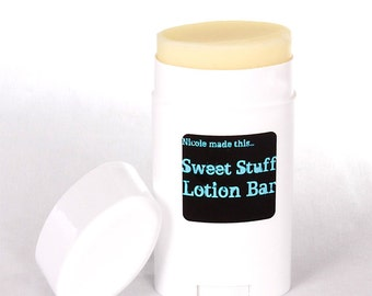 Sweet Stuff Natural Vegan Solid Lotion Bar - Smells Like a Light and Airy Tea Cake